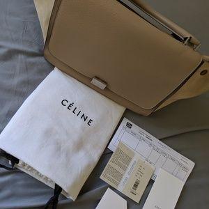 Celine Trapeze shoulder bag in Fine beige taupe